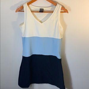 Nike Dri Fit Midi Dress Blue Size Medium 8-10